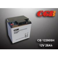 12V 28AH Energy Storage Battery , AGM Valve Non Spillable Lead Acid Battery Manufactures
