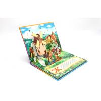 Kids 3D Pop Up Book Printing Perfect Binding , 350g White Board Inside Manufactures