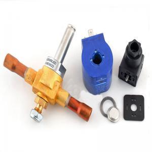High Accuracy Cold Storage Parts , Hydraulic Solenoid Valve Brass Material Medium Temperature Manufactures