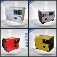 6.0-6.5 kw / kva Single Phase Generator Set 4 Stroke Silent Genset For Home Manufactures