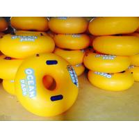 Fun PVC Yellow Inflatable Swim Ring Inflatable Swimming Floats For Water Amusement Park Manufactures