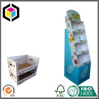 Glossy Custom Color Print Corrugated Cardboard Display Box Stand for Shopping Mall Manufactures