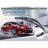 Thickness 1.0mm Frame Car Window Wiper Blades With Universal Adapter For Different Wiper Arms Manufactures