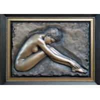 Professional Metal Relief Sculpture , Nude Woman Wall Relief Sculpture Manufactures