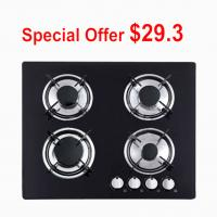 Kitchen Four Burner Glass Top Gas Hob , 4 Ring Toughened Glass Gas Stove Manufactures