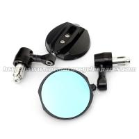 Quality CNC Aluminum Motorcycle Rear View Mirrors / Handle Bar End Mirror 2 X 10mm / 2 X for sale