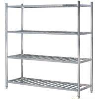 Stainless Steel 4-Layer Round Tube Shelves Kitchen Storage Rack 1200*500mm 1500*500mm Manufactures
