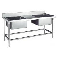 Double Sink for Kitchen Washing Stainless Steel Catering Equipment 1200*700*800+150mm Manufactures