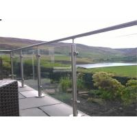 Flooring Mounted Stainless Steel And Glass Railing Systems Mirror / Satin Finish Manufactures