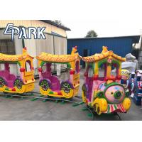 Child riding game machine track train 14 players large entertainment train Manufactures