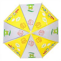 Promotional Auto Open Kids Rain Umbrellas With Heat Transfer Printing Manufactures