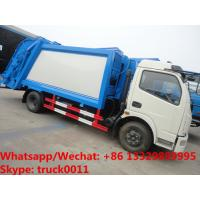 factory sale best price Dongfeng 4*2 LHD 6-7m3 compacted garbage truck, refuse garbage truck for The Kyrgyz Republic Manufactures