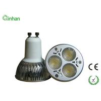 Aluminum and lens 3W LED spotlight fixture GU10 / MR16 base 2 year warranty Manufactures