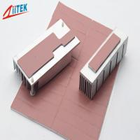 Pink Heat Dissipation Fins Thermal Gap Filler For LED - lit Lamps -50 - 200℃ Continuos Use Temp 1.0 W/m-K Manufactures
