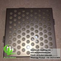 Perforated Aluminum panels for building skin facade cladding PVDF metallic color Manufactures