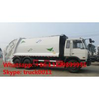 Quality hot sale good price dongfeng 6*4 18cbm garbage compactor truck, factory best for sale