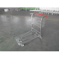Cargo Warehouse Trolley 4 Swivel flat casters with Platfrom and foldable baskets Manufactures