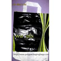 Cotton Rope Plastic Handle Bags , Quadrate Bottom Soft Loop Shopping Bags Manufactures