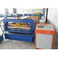 Green Color Roofing Sheet Roll Forming Machine With Stainless Steel Slide Manufactures