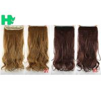 China Girls 24 Inch Synthetic Hair Extensions Natural Curly Human Hair Ponytail on sale