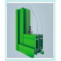 China Red / Green Aluminium Window Extrusion Profiles 6 M Normal Length Acid Resistant on sale