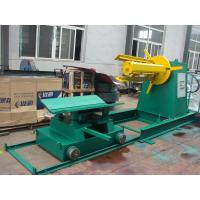 China Metal Sheet Double Head Uncoiler Machine , Hydraulic Color Steel Decoiler on sale