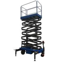 Quality 8m Working Height Manganese Steel Mobile Scissor Lift  Electrical Pulling Loading Capacity 450kg for sale