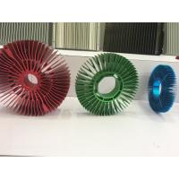 Red Anodized Aluminum Sunflower Radiator Led Cylindrical Heat Sink for Tracking Light Manufactures