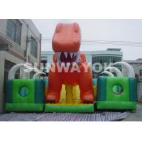 Kids Inflatable Fun City With Giant Blow Up Slide For Inflatable Theme Park Manufactures