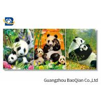 Panda / Tiger Animal Lenticular 3d Stereograph Printing / Pictures For Living Room Décor Art Manufactures