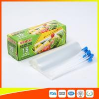 Small Recycled Transparent Plastic Airtight Food Storage Bags With Slider Zipper Manufactures