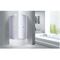 4mm Tempered smoke Glass Quadrant Shower Enclosures With Handle / Wheels Manufactures
