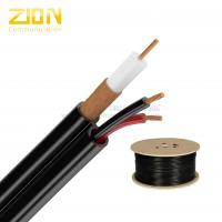 UL CMR RG59/U CCTV Coaxial Power Cable PVC Jacket with 7 × 0.37mm BC Power for USA Manufactures