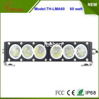 New products 12V 24V 60w 11.5 inch slim single row led driving light bar for offroad auto Manufactures