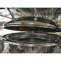 Quality 6.0Ltr Round Hydraulic Chafing Dish Full Stainless Steel Lid Induction Or Spirit for sale