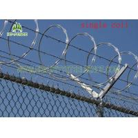 Concertina Single Coiled Razor Wire / Concertina Fencing Wire Without Clips Manufactures