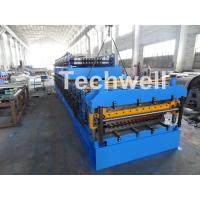 IBR / Corrugated Sheets Dual Level Cold Roll Forming Machine With 5 Ton Manual Uncoiler Manufactures