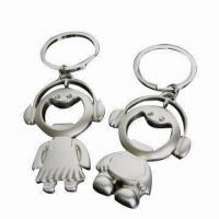Metal Bottle Opener Keychains, High Quality, Smile Face Shape, Made of Zinc Alloy Manufactures