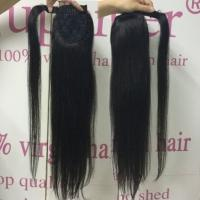 Straight Wrap Around Hair Extension Ponytail Real Hair Natural Looking Glossy Manufactures