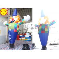 Smiling Inflatable Clown Air Sky Dancer Logo / Banner Printing For Party Manufactures