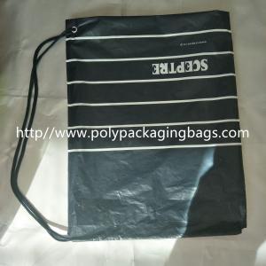 Waterproof Single Drawstring Shoulder Bag With Color Printing Logo / Clothing Backpack Bag Manufactures