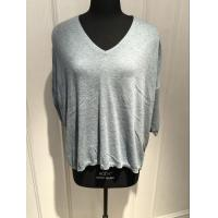 Grey V Neck Sweater Women'S , Cashmere Ladies Sweaters With Bead Decoration Manufactures