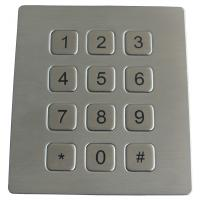 16 Keys Scrachproof Ps2 Metal Keypads Durable With 4 Holes Top Mounting Version Manufactures