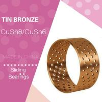 Wrapped Cylindric Metric Standard Spilt Bushing  Tin Bronze CuSn8P Plain Bearing Diamond Shaped Through hole Manufactures