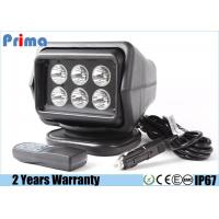30W Cree Remote Control LED Search Light For Marine / Boat / Car / Camping Manufactures