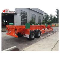4 Double Chamber 40 Foot Flatbed Trailer With Heavy Duty Type Suspension Manufactures