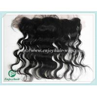 Brazilian virgin remy hair silk lace frontal 13''x4'' ,natural color body wave 10''-24''. Manufactures