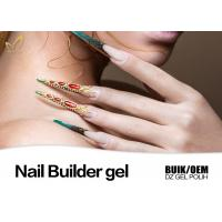 Strong Adhesion Thick Uv Gel Nail Builder For Extend Nails Jelly Gel Long Stay Manufactures