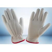 Industrial Cotton Work Gloves Width 8.8cm - 10.6cm With One Elastic Line Manufactures