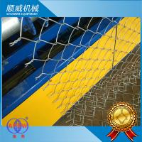 3m Twist Edge Chain Link Fence Making Machine , Chain Link Wire Machine Manufactures
